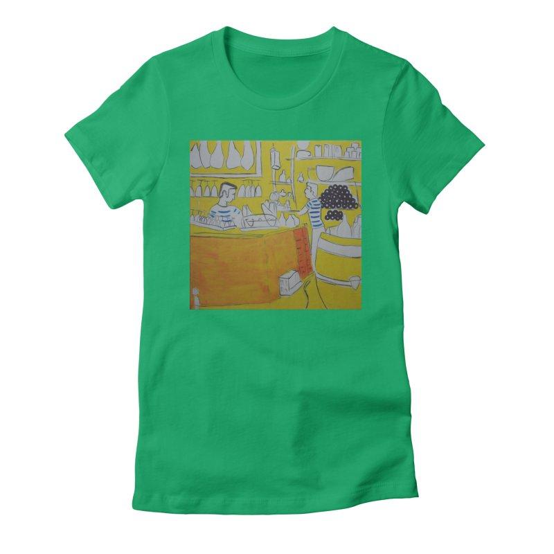 Barcelona Art Women's Fitted T-Shirt by hrbr's Artist Shop