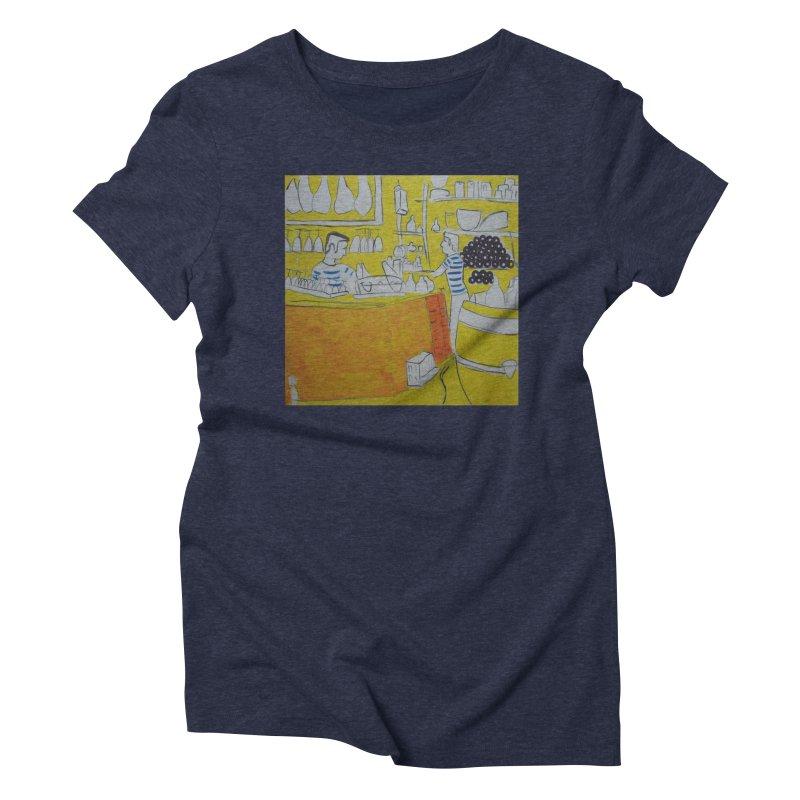 Barcelona Art Women's Triblend T-Shirt by hrbr's Artist Shop
