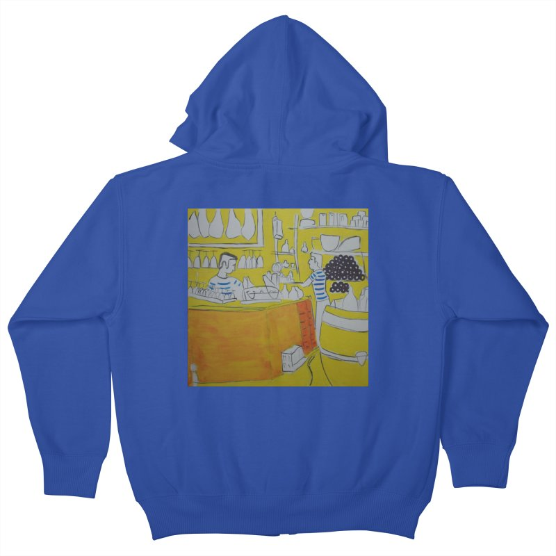 Barcelona Art Kids Zip-Up Hoody by hrbr's Artist Shop