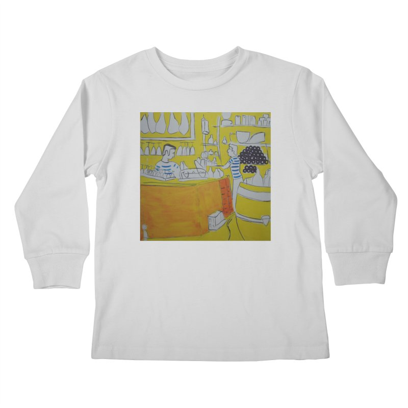 Barcelona Art Kids Longsleeve T-Shirt by hrbr's Artist Shop