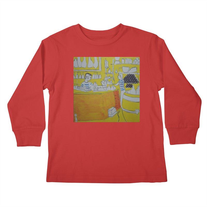 Barcelona Art Kids Longsleeve T-Shirt by hrbr's Artist Shop