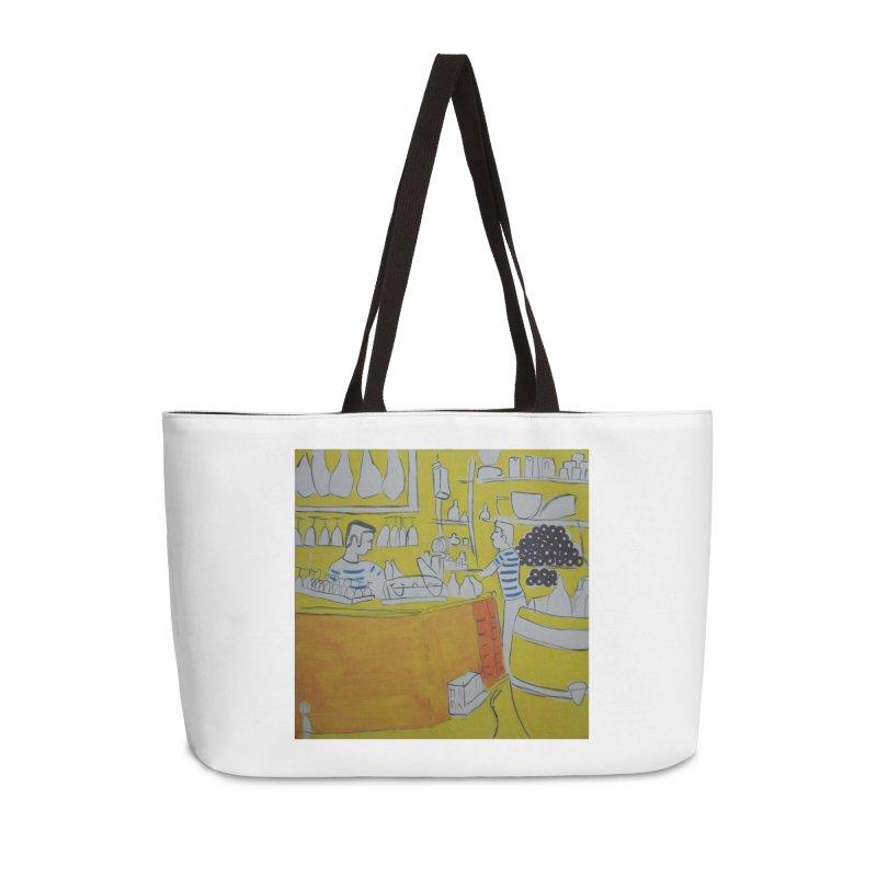 Barcelona Art Accessories Weekender Bag Bag by hrbr's Artist Shop
