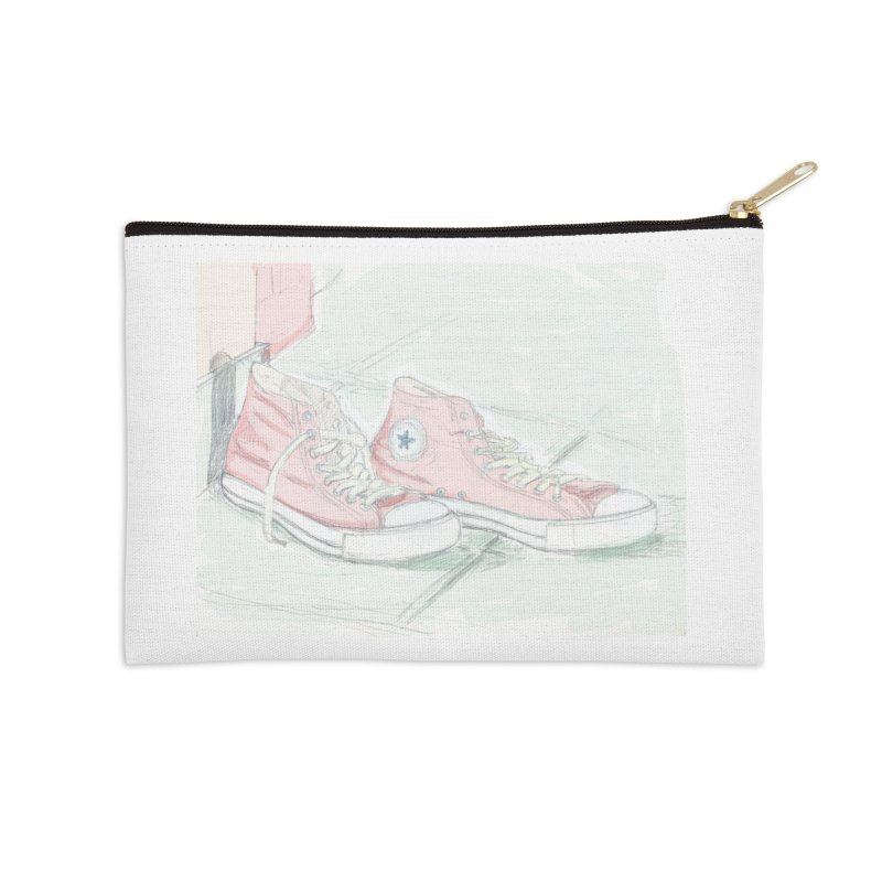 Red All Star Accessories Zip Pouch by hrbr's Artist Shop