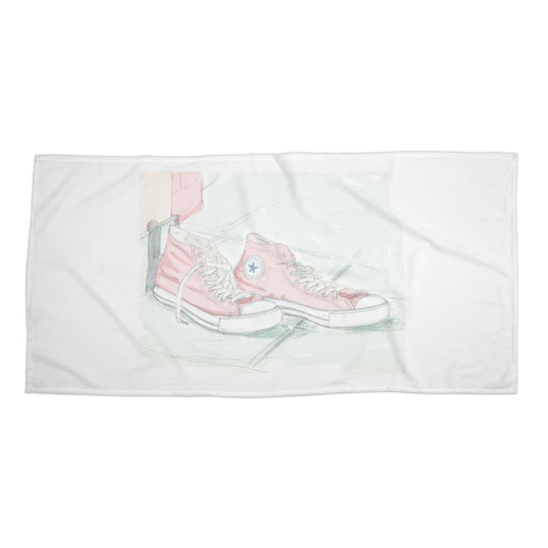 Red All Star Accessories Beach Towel by hrbr's Artist Shop