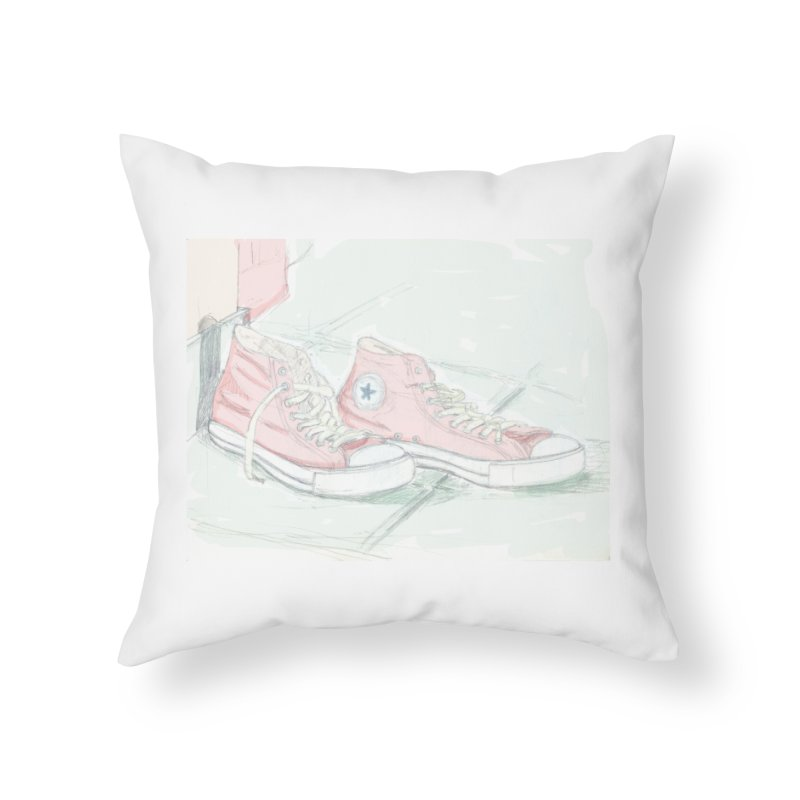 Red All Star Home Throw Pillow by hrbr's Artist Shop