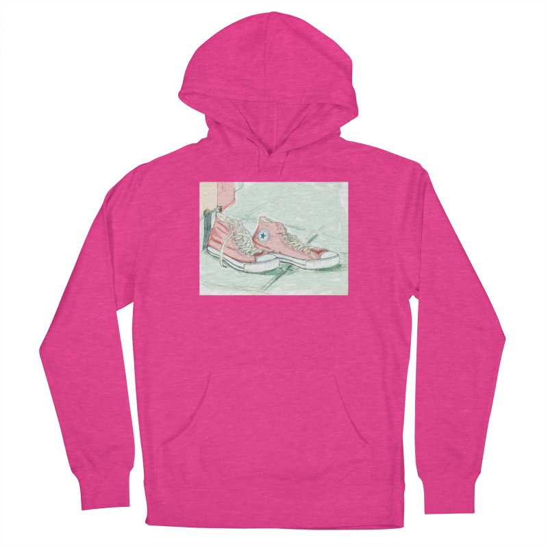 Red All Star Women's Pullover Hoody by hrbr's Artist Shop