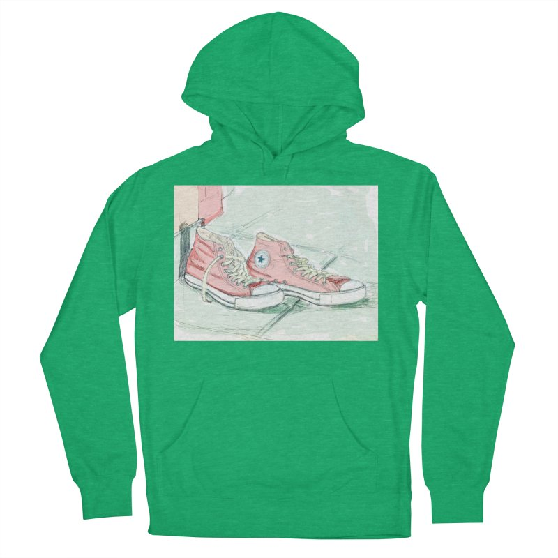 Red All Star Women's French Terry Pullover Hoody by hrbr's Artist Shop