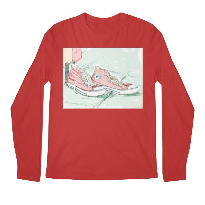 Red All Star Men's Longsleeve T-Shirt by hrbr's Artist Shop