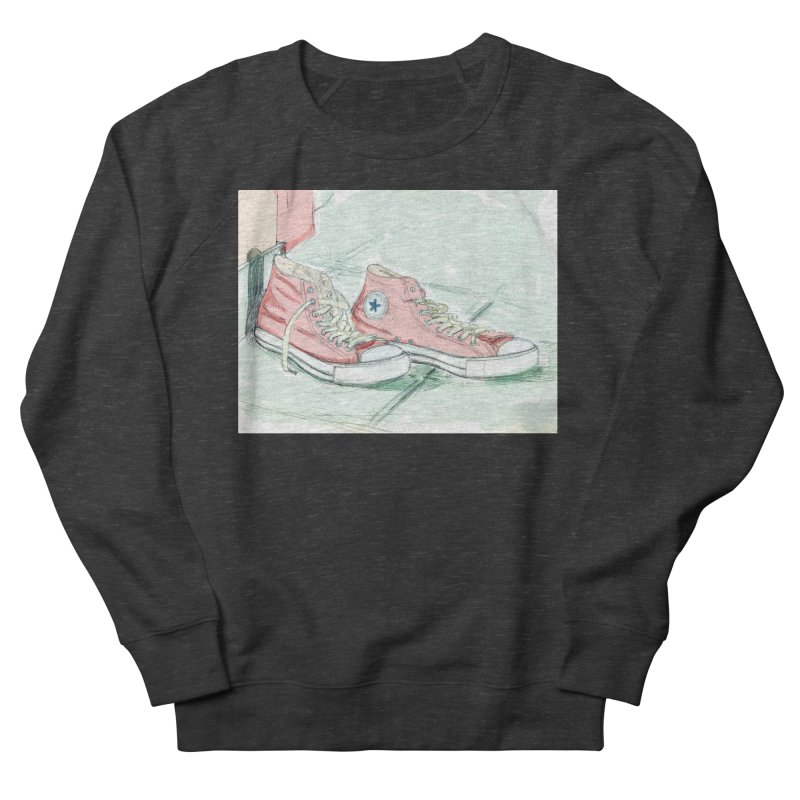 Red All Star Men's French Terry Sweatshirt by hrbr's Artist Shop