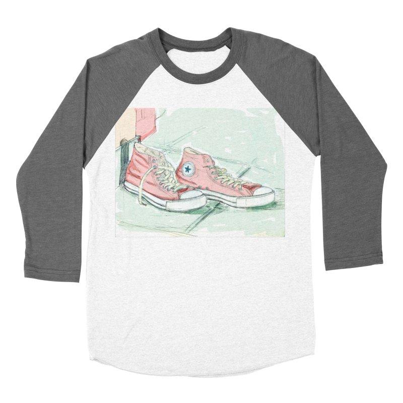 Red All Star Women's Baseball Triblend T-Shirt by hrbr's Artist Shop