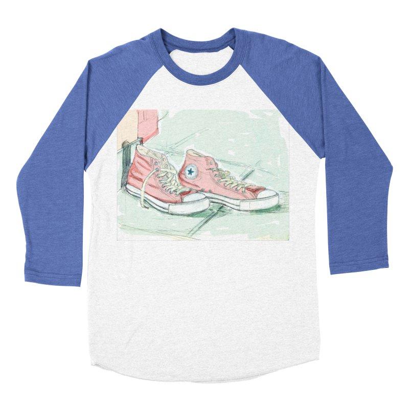 Red All Star Men's Baseball Triblend T-Shirt by hrbr's Artist Shop