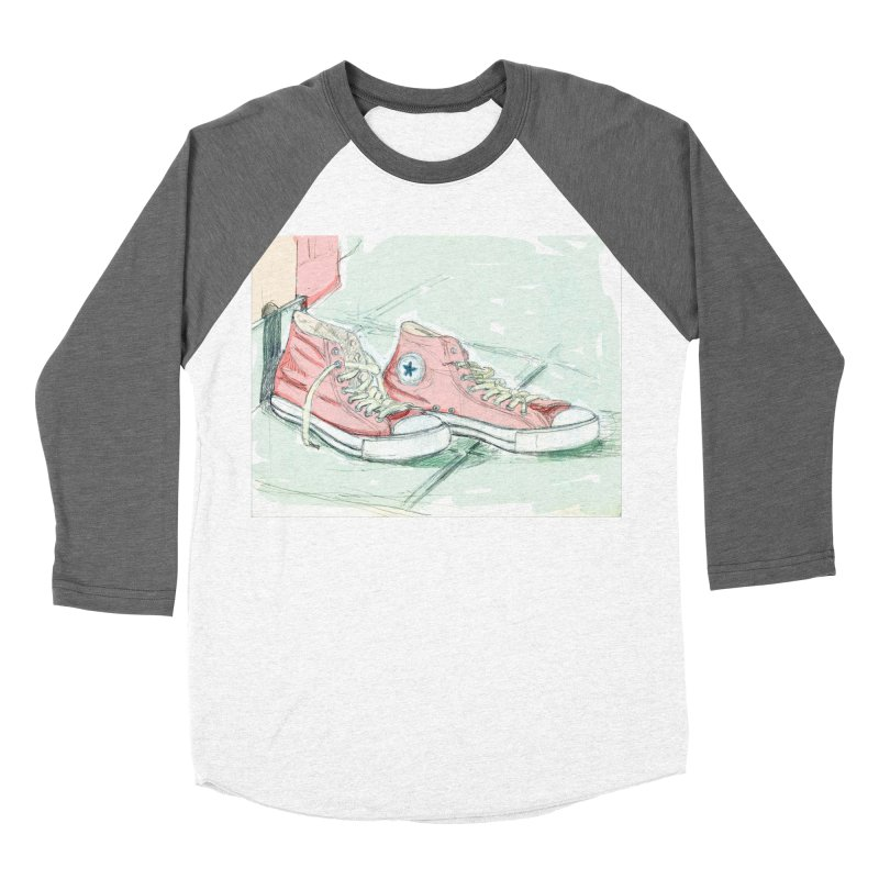 Red All Star Men's Baseball Triblend Longsleeve T-Shirt by hrbr's Artist Shop