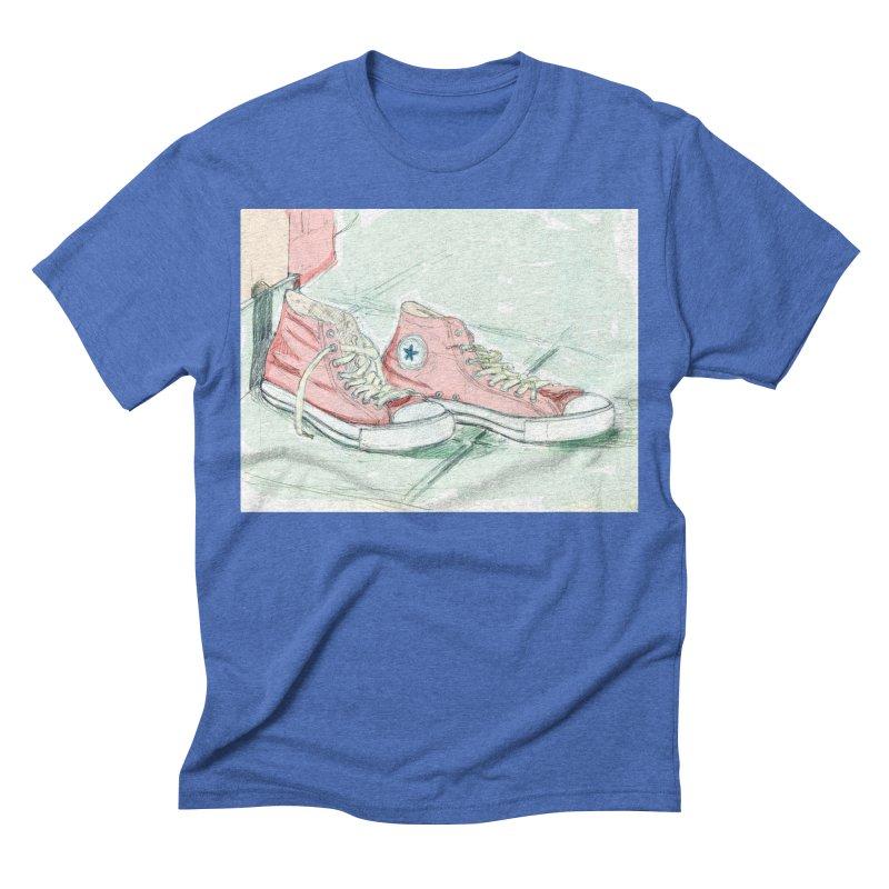 Red All Star Men's Triblend T-shirt by hrbr's Artist Shop