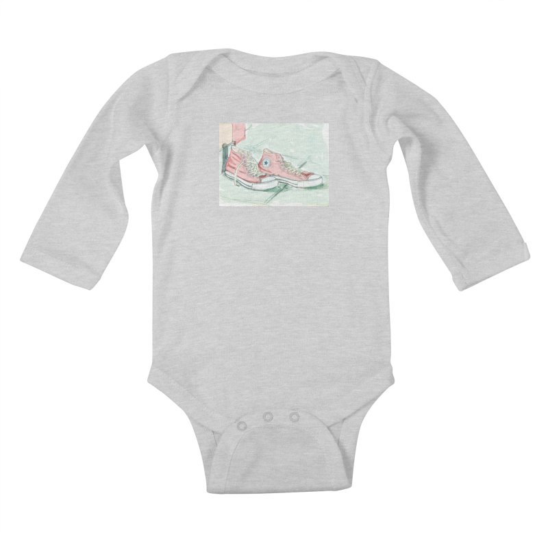 Red All Star Kids Baby Longsleeve Bodysuit by hrbr's Artist Shop