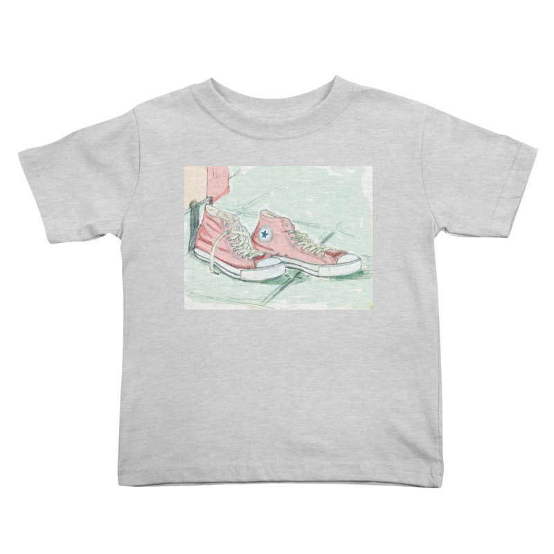 Red All Star Kids Toddler T-Shirt by hrbr's Artist Shop