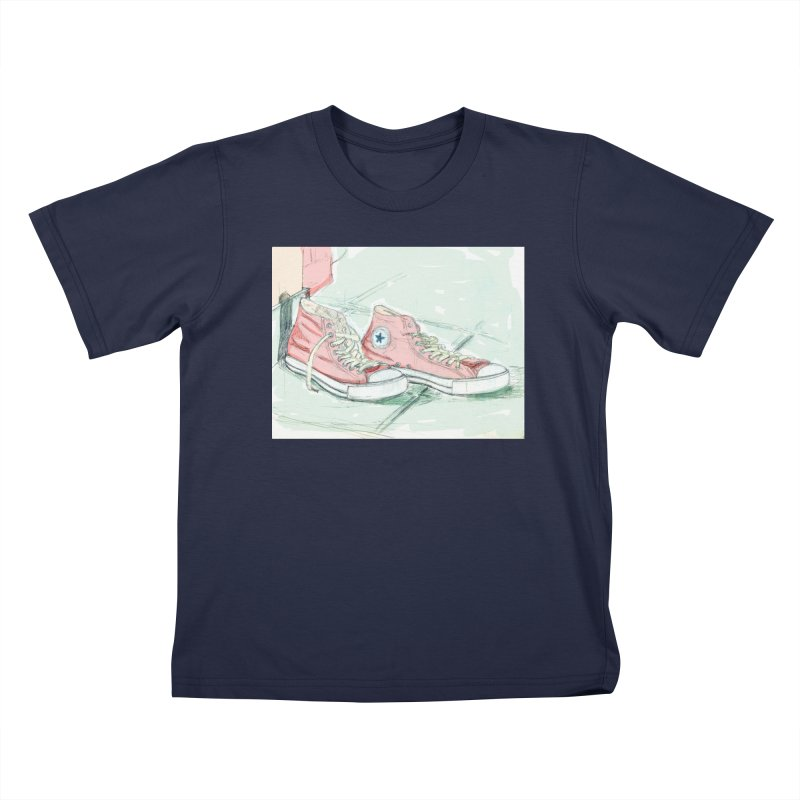 Red All Star Kids T-Shirt by hrbr's Artist Shop