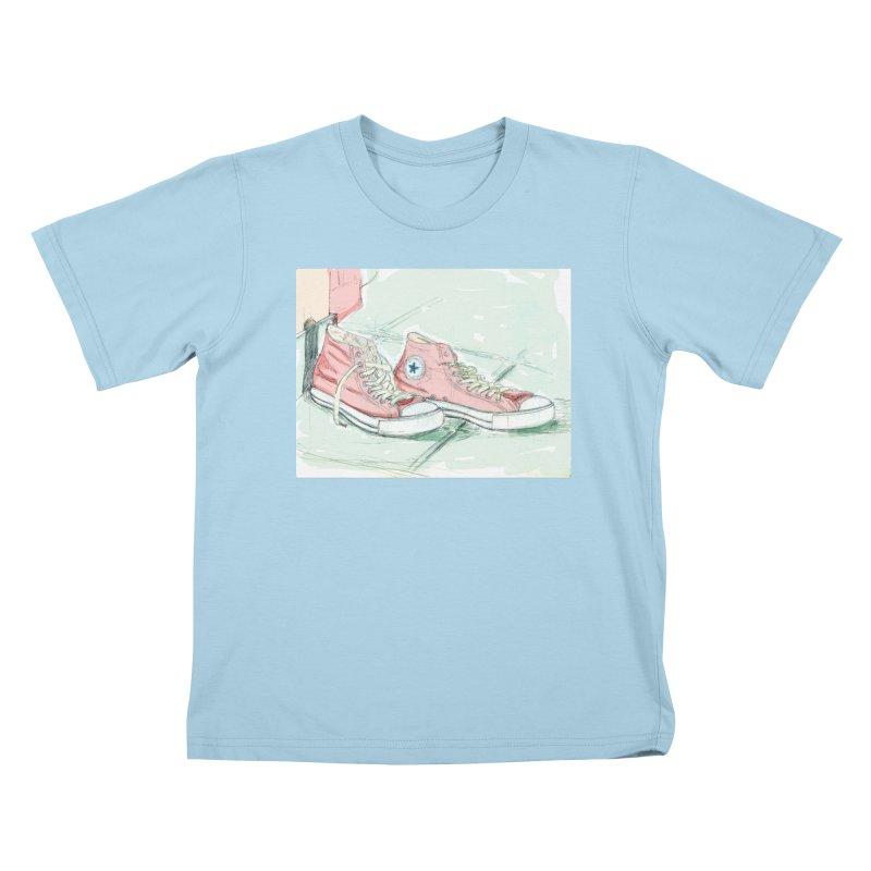Red All Star Kids T-shirt by hrbr's Artist Shop