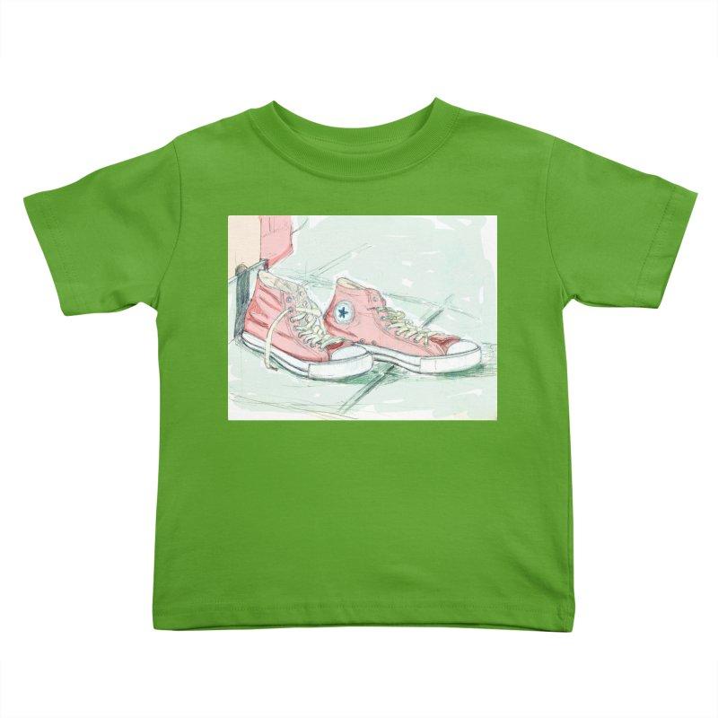 Red All Star Kids Toddler T-Shirt by hrbr's Artist Shop