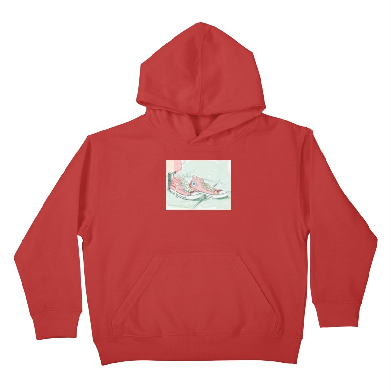 Red All Star Kids Pullover Hoody by hrbr's Artist Shop