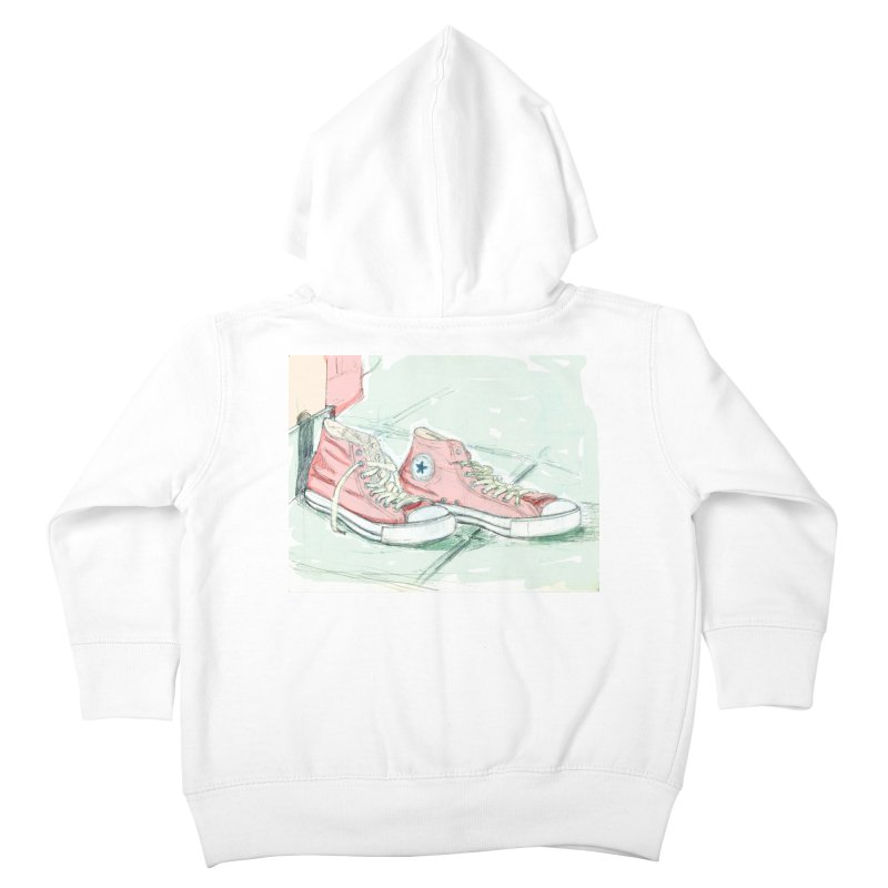 Red All Star Kids Toddler Zip-Up Hoody by hrbr's Artist Shop