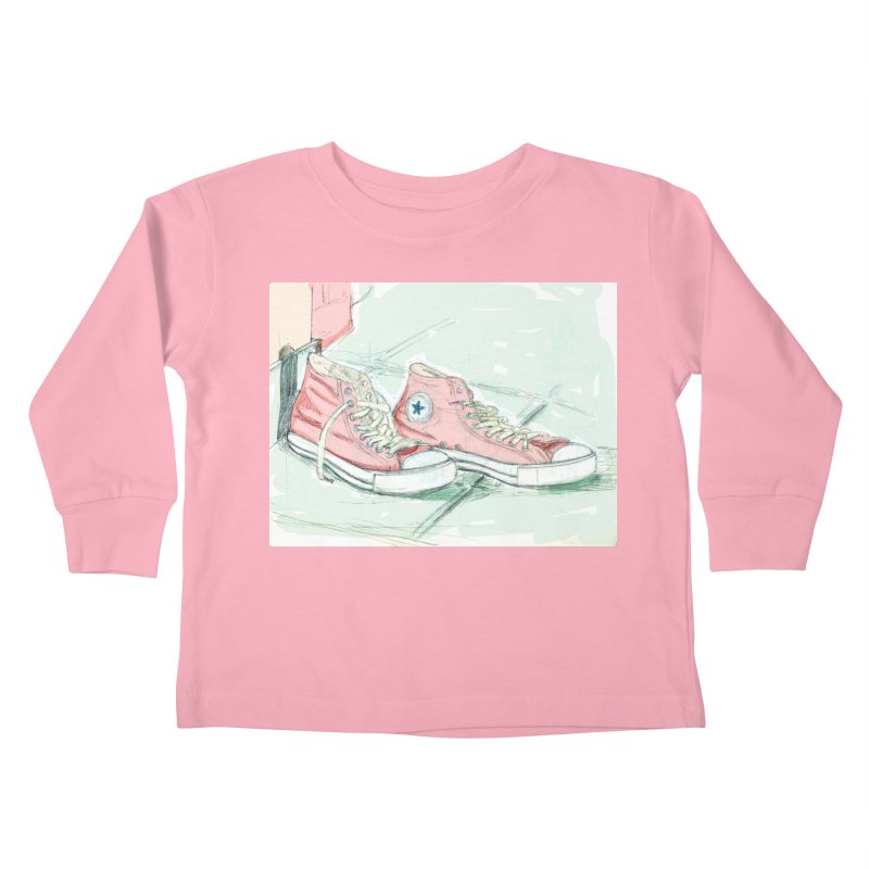 Red All Star Kids Toddler Longsleeve T-Shirt by hrbr's Artist Shop