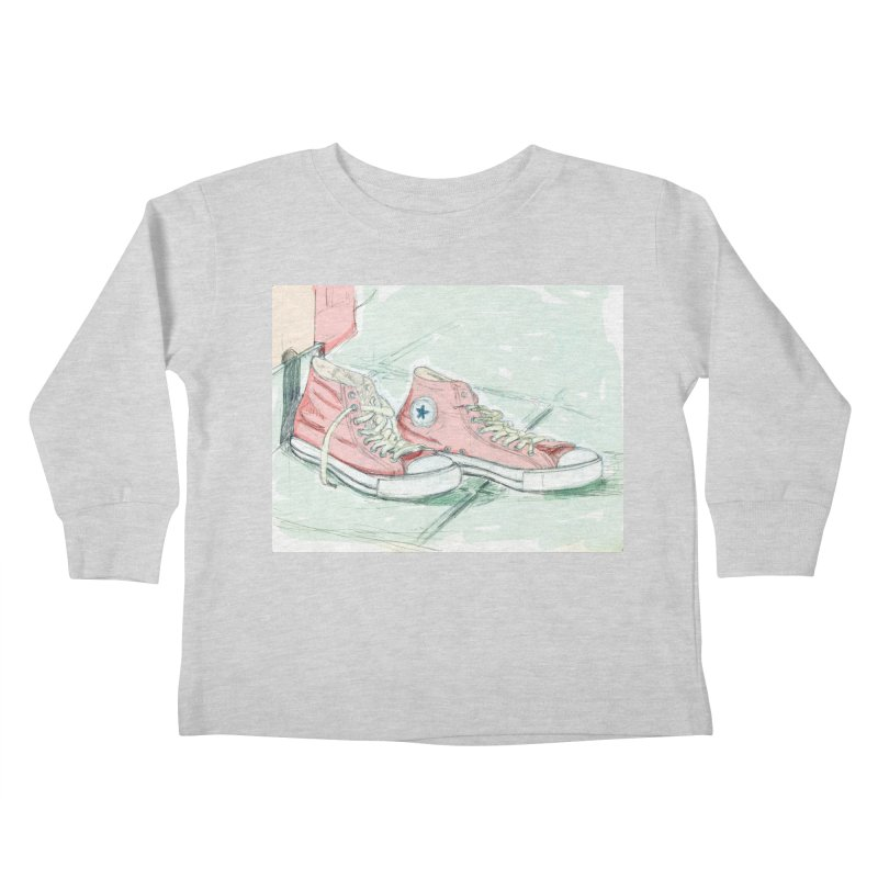 Red All Star Kids Toddler Longsleeve T-Shirt by hrbr's Artist Shop