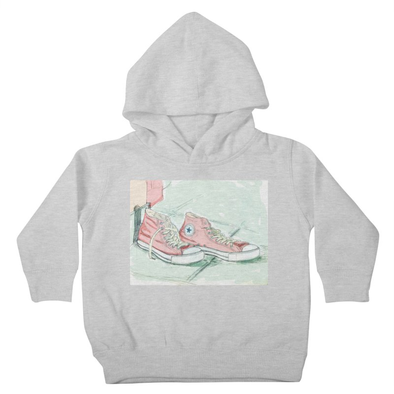 Red All Star Kids Toddler Pullover Hoody by hrbr's Artist Shop