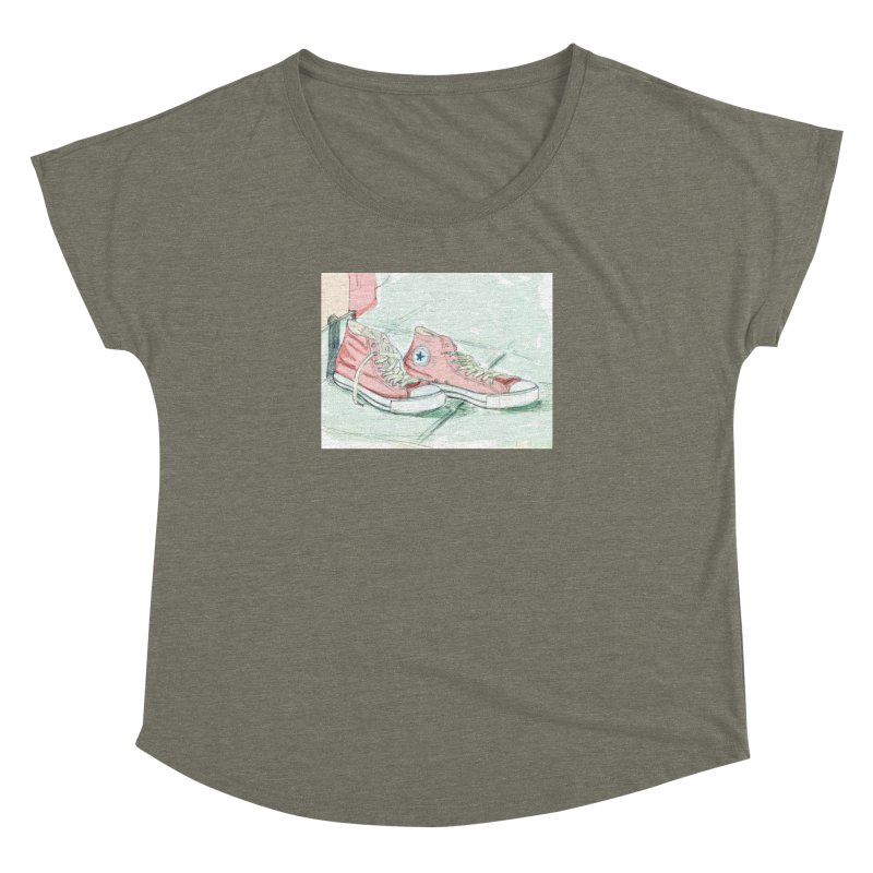 Red All Star Women's Dolman Scoop Neck by hrbr's Artist Shop
