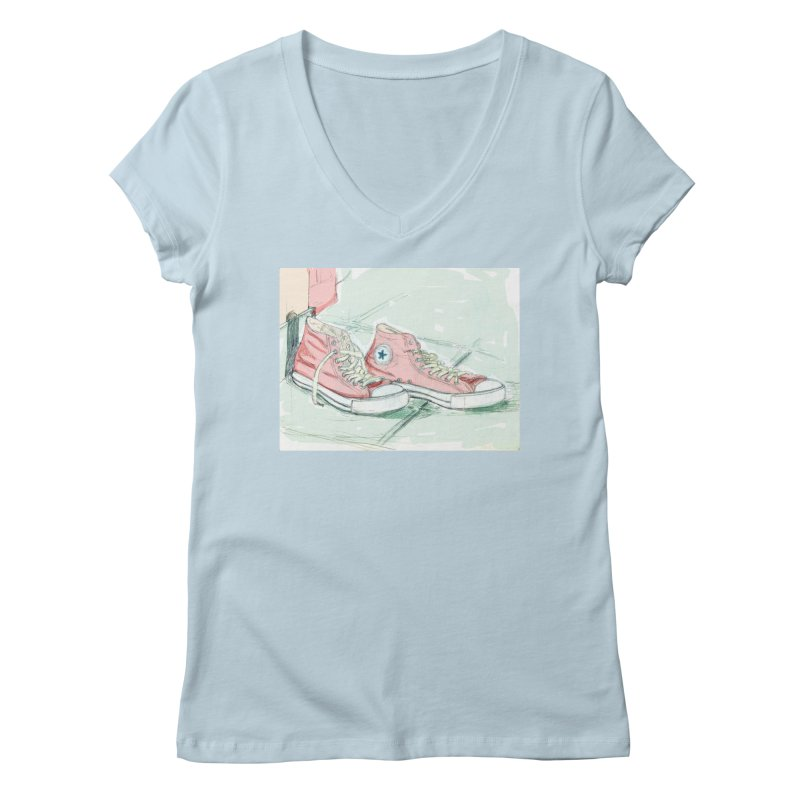 Red All Star Women's V-Neck by hrbr's Artist Shop