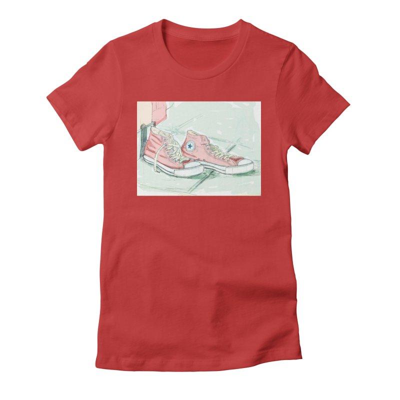 Red All Star Women's T-Shirt by hrbr's Artist Shop