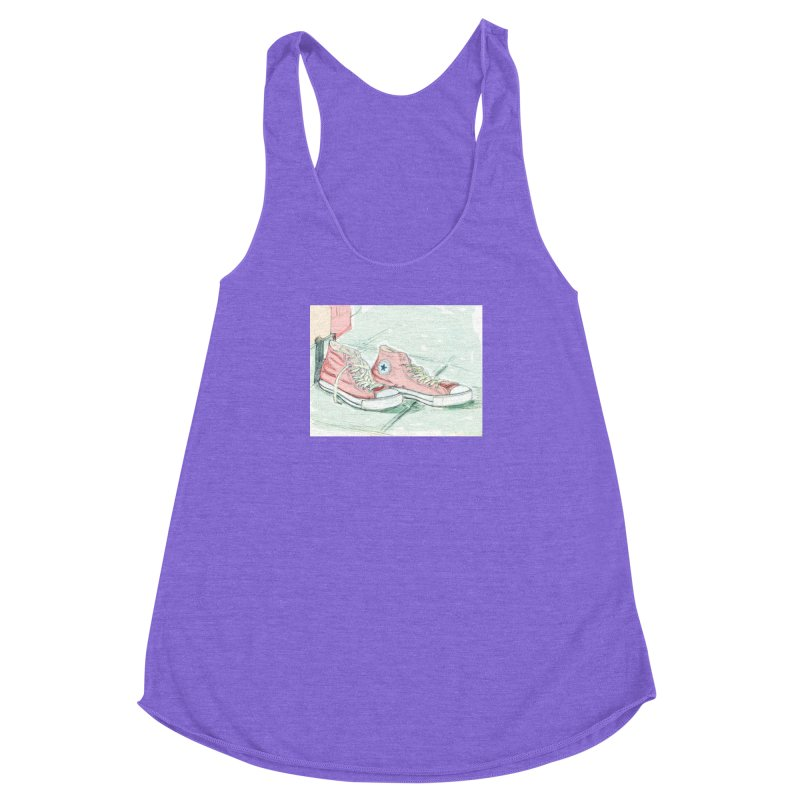 Red All Star Women's Racerback Triblend Tank by hrbr's Artist Shop