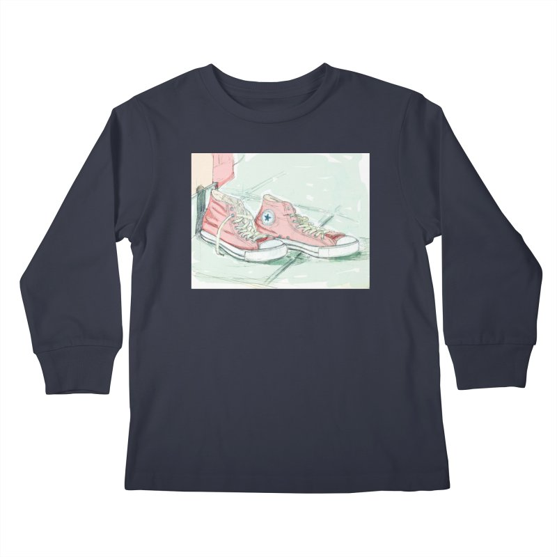 Red All Star Kids Longsleeve T-Shirt by hrbr's Artist Shop