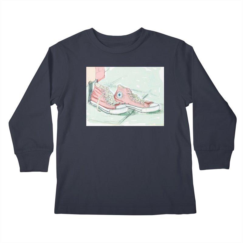 Red All Star Kids Longsleeve T-Shirt by hrbr's Artist Shop
