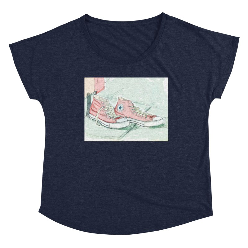Red All Star Women's Scoop Neck by hrbr's Artist Shop