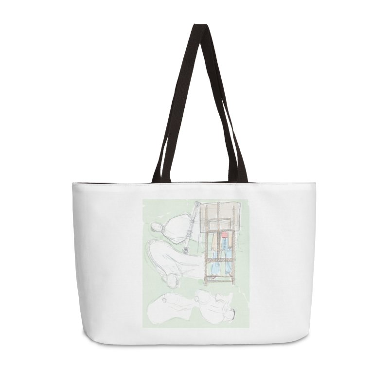 Artist behind artist easel Accessories Bag by hrbr's Artist Shop