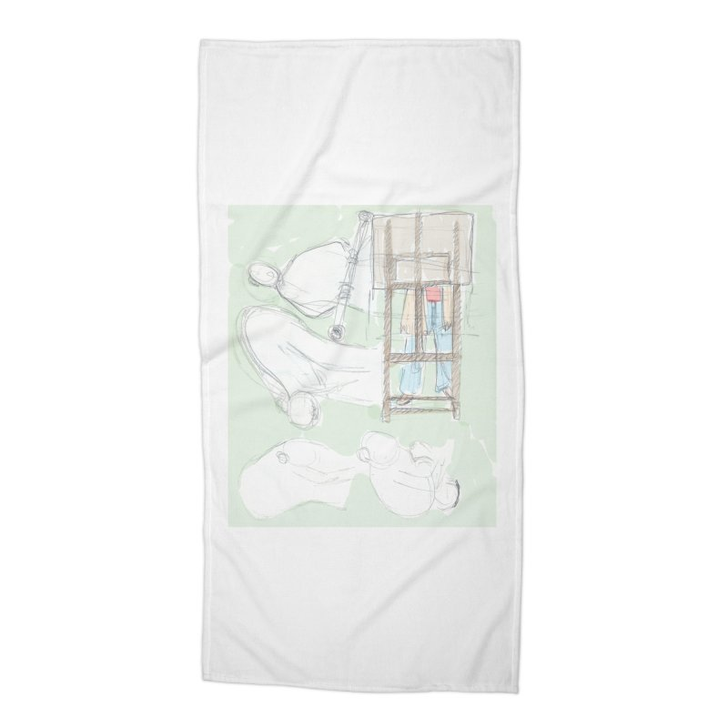 Artist behind artist easel Accessories Beach Towel by hrbr's Artist Shop