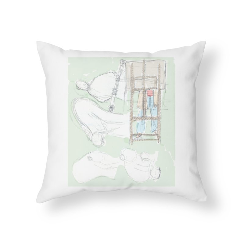 Artist behind artist easel Home Throw Pillow by hrbr's Artist Shop