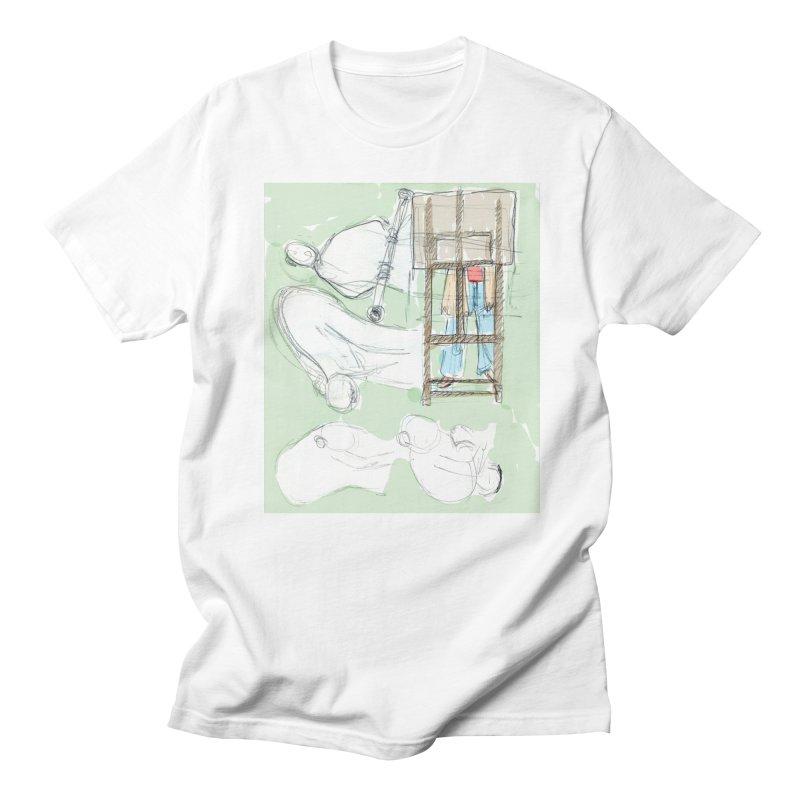 Artist behind artist easel Men's T-Shirt by hrbr's Artist Shop