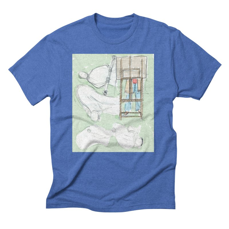 Artist behind artist easel Men's T-Shirt by hrbr's Artist Shop