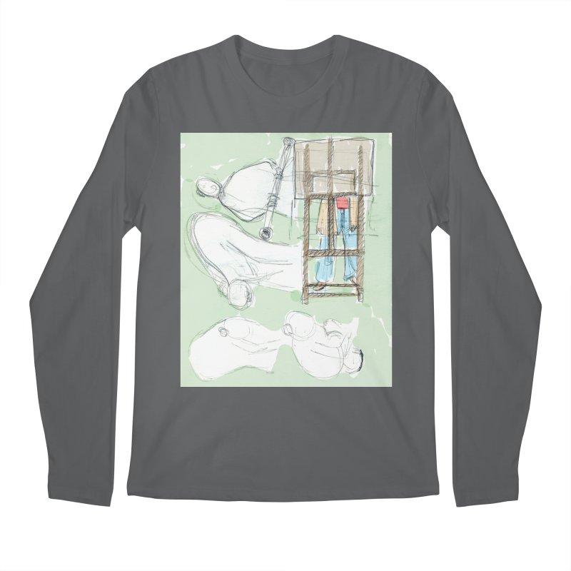 Artist behind artist easel Men's Longsleeve T-Shirt by hrbr's Artist Shop