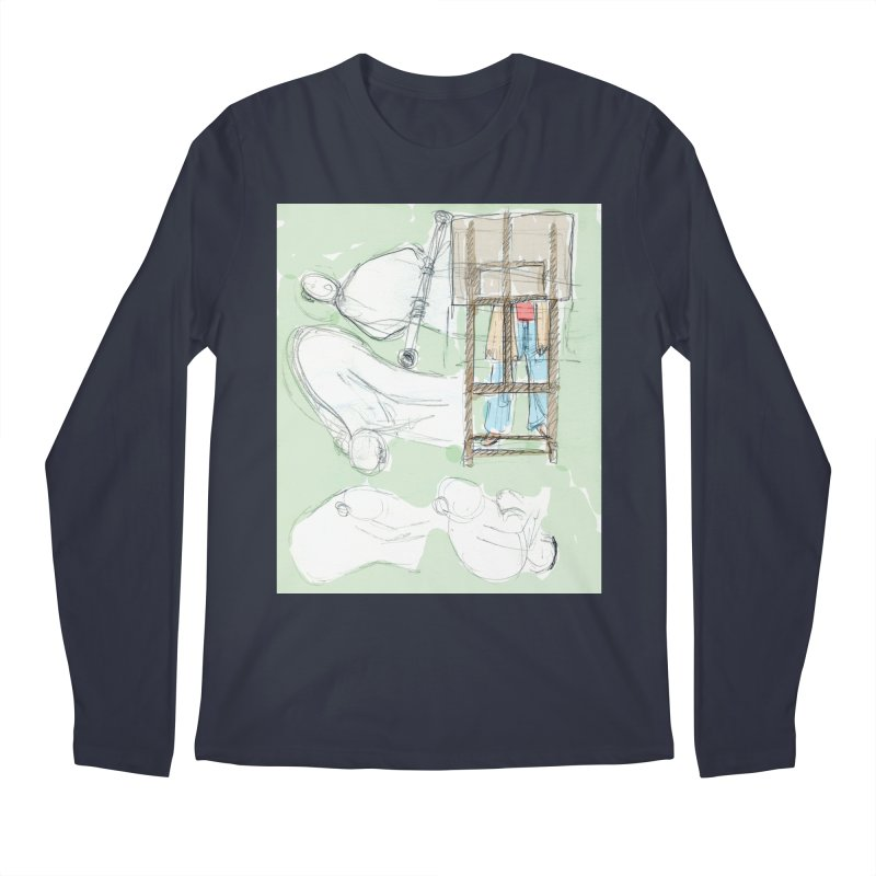 Artist behind artist easel Men's Regular Longsleeve T-Shirt by hrbr's Artist Shop