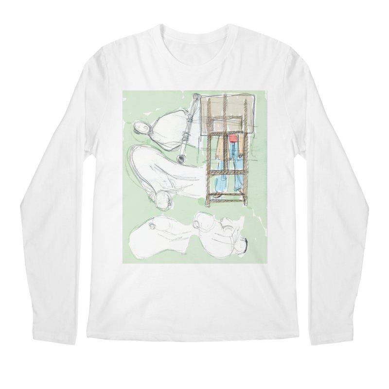 Artist behind artist easel Men's Regular Longsleeve T-Shirt by hrbr's Artist Shop