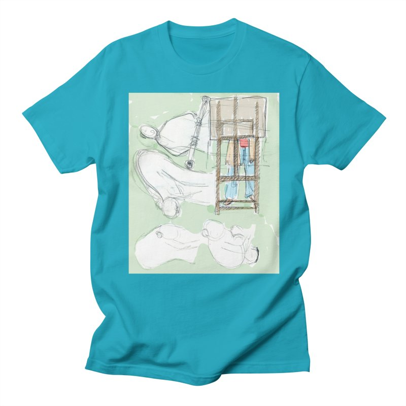 Artist behind artist easel Men's Regular T-Shirt by hrbr's Artist Shop