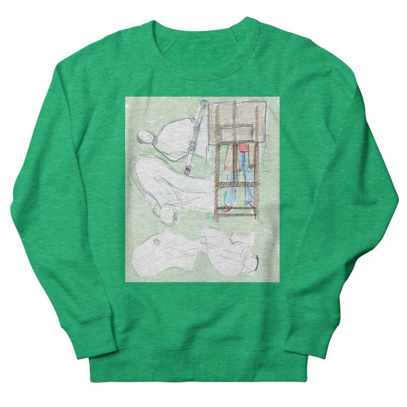 Artist behind artist easel Women's Sweatshirt by hrbr's Artist Shop