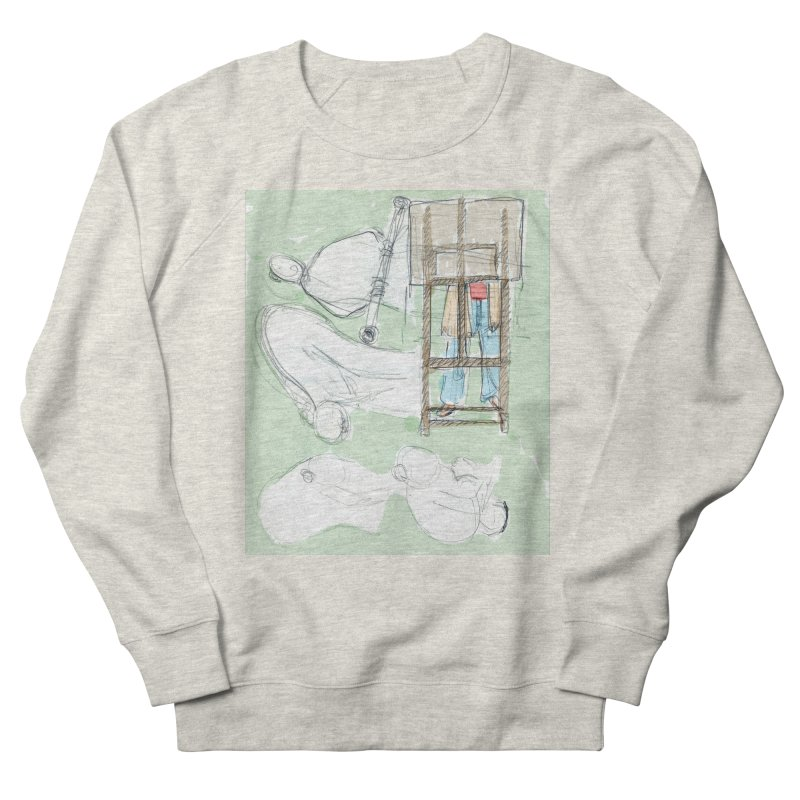 Artist behind artist easel Women's French Terry Sweatshirt by hrbr's Artist Shop