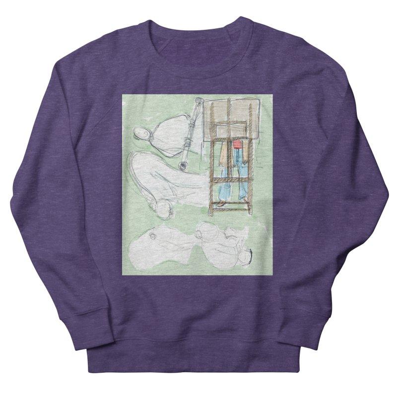 Artist behind artist easel Men's French Terry Sweatshirt by hrbr's Artist Shop