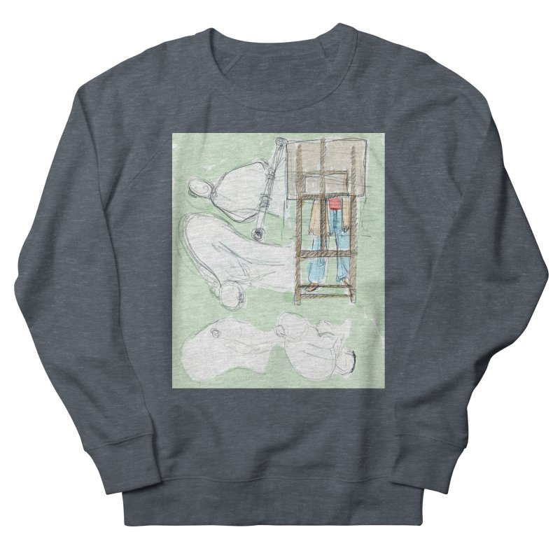 Artist behind artist easel Men's Sweatshirt by hrbr's Artist Shop