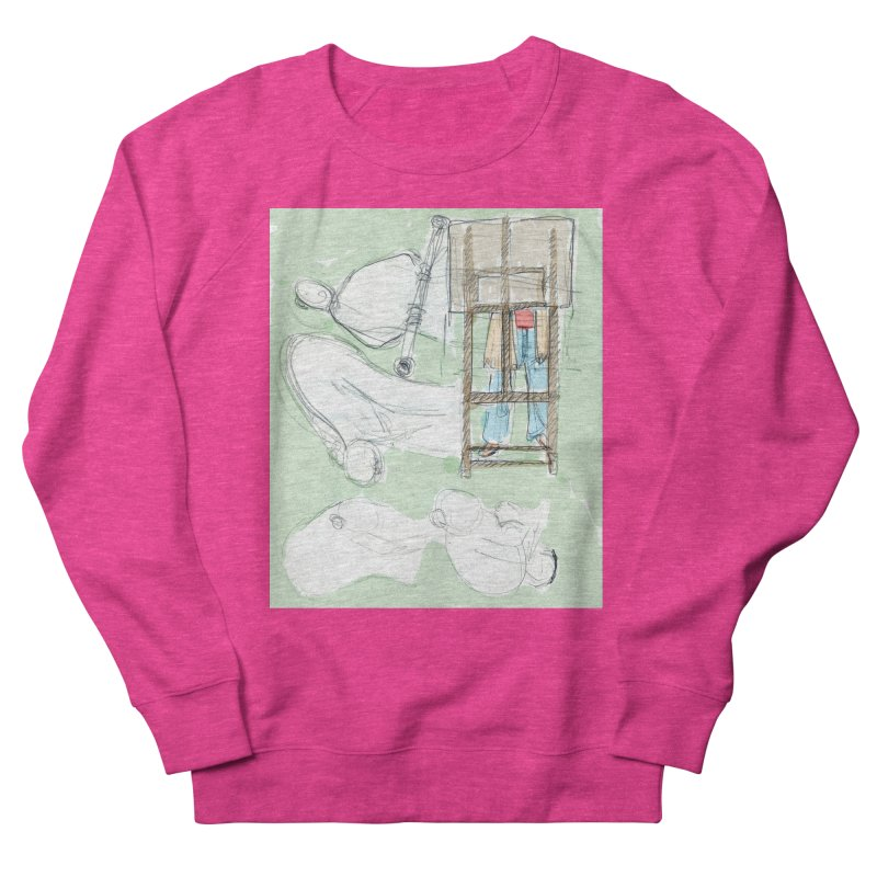 Artist behind artist easel Men's French Terry Sweatshirt by hrbr's Artist Shop