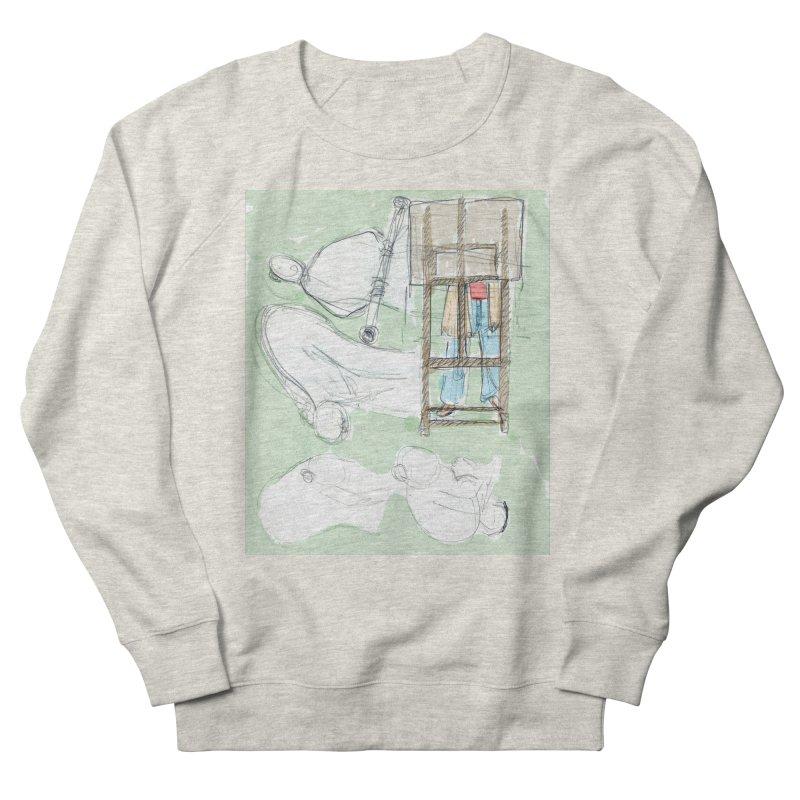 Artist behind artist easel Men's Sweatshirt by hrbr's Artist Shop