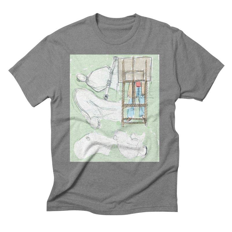 Artist behind artist easel Men's Triblend T-Shirt by hrbr's Artist Shop